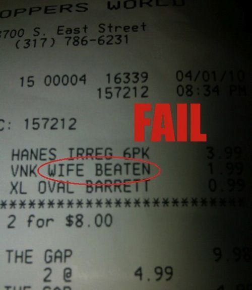 Ridiculous Receipt Fails ... 20+(pics) How your waiter/waitress really feels about you.