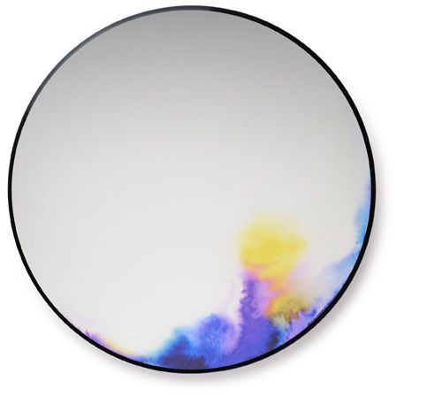 This has to be easy enough to figure out - watercolor mirror inspiration