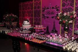 Resultado de imagem para festa de 15 anos rosa e preto