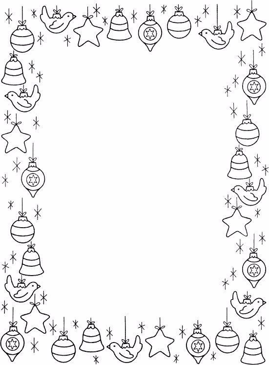 Kerstkader Christmas Coloring Pages Christmas Crafts Christmas Border