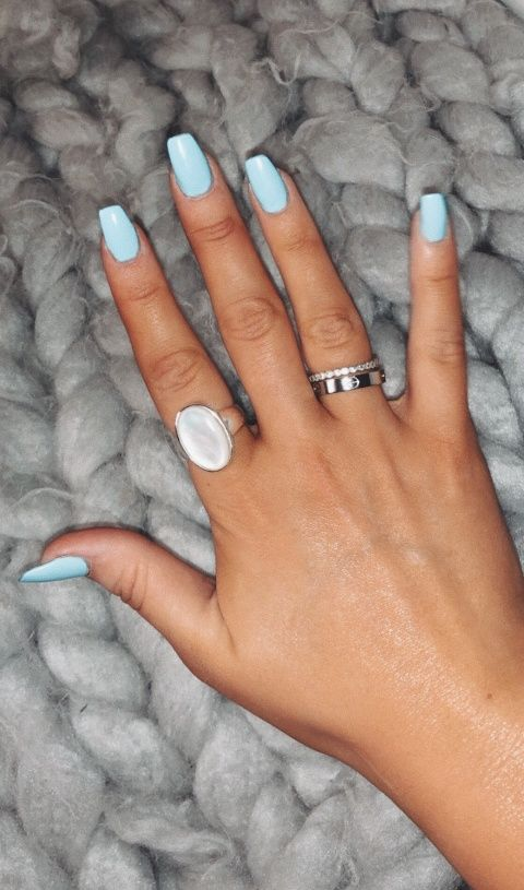Vsco Fallonbrown Blue Acrylic Nails Simple Acrylic Nails Acrylic Nails Coffin Short