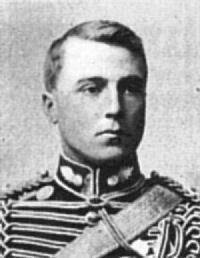 Capt. Charles Hunter Browning. 124th Bty, 28th Bde, Royal Field Artillery. b. 9.4.1878. Educ. Eton, Captain of the School 1897, Royal Military Academy, Woolwich. Gaz. Sec-Lt. 24.6.1898. Served Sec. Boer War. KIA Le Cateau 26.8.1914 aged 36. Buried Le Cateau Military Cemetery. Grave Ref: IV. B.5. Son of Capt. Hugh E. Browning, late The Royal Scots Greys; of Clapham Park, Beds.