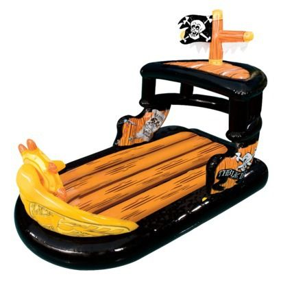 Pirate ship pool float. Even if you don't have a pool, they'd have fun.