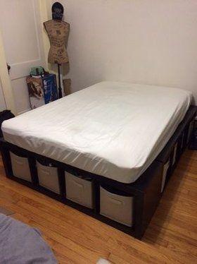 Shelf Bed Storage Bed Frame With Storage Diy Platform Bed Bed