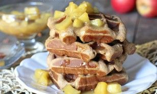 Carmel Apple Spice Waffles (Paleo)