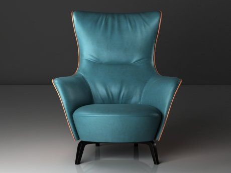 Armchairs 3d and models on pinterest for Poltrona 3d