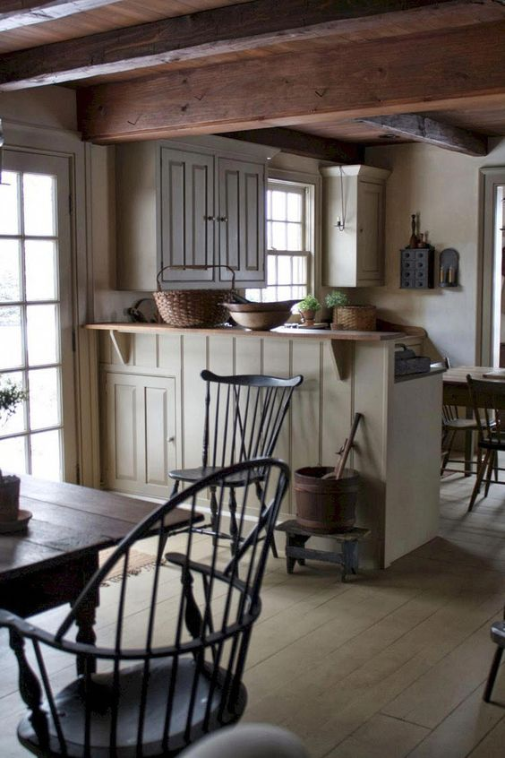 Primitive House Crossword Clue Primitivehomes Country Kitchen Designs Country Kitchen Rustic Kitchen