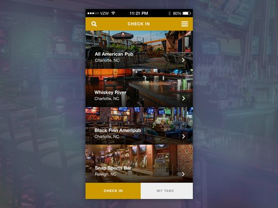 Bar Tab App Concept by Ed Mendoza