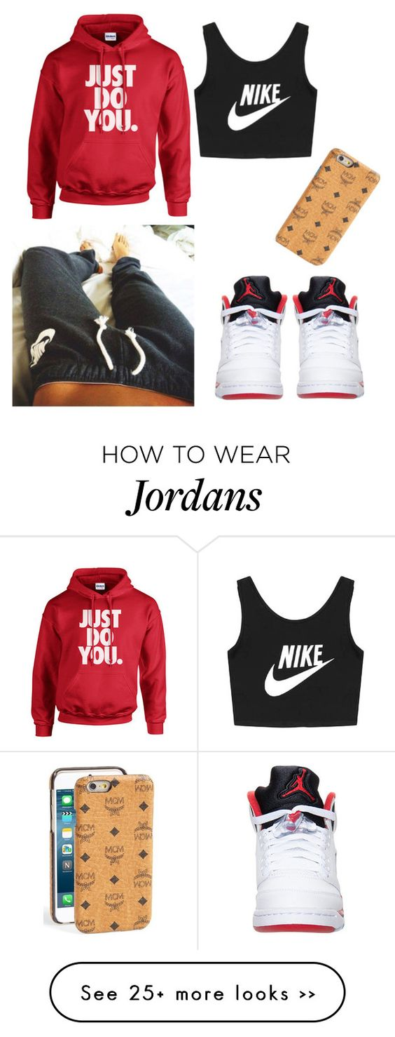 """In bed"" by haileycouture on Polyvore featuring NIKE and MCM"
