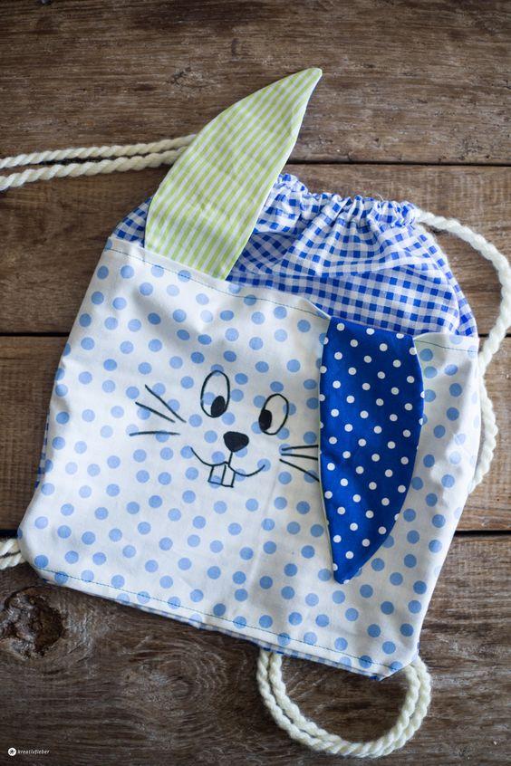 DIY Hasenrucksack für Kinder selbernähen - Schritt für Schritt Anleitung - Kreativ für Kinder