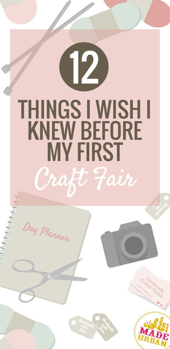 If you're feeling a little nervous or un-prepared for a craft show, click on this pin to read through 12 really valuable tips that are great for keeping in mind whether you're about to sell at your first craft fair or your 100th.