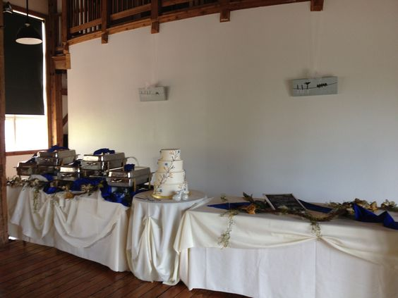 Buffet Set up with Cake