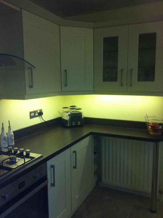 LED strip lights for under cupboard kitchen lights in warm white ...