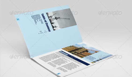 Blank Tri Fold Brochure Template Mock-up PSD psd files - blank brochure