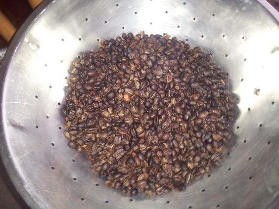 Organic Kenya (Our Own) and Columbian roasted this morning. Ah the smell in the house is like a vanilla pipe tobacco....