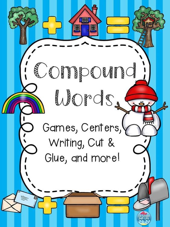 1st grade 2nd grade ELA Compound Word Activity Set