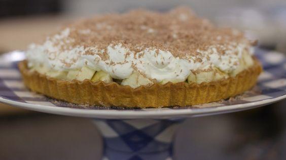 Eén dagelijkse kost bananentaart njam taart