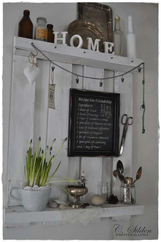 Everything good thats white shabby chic for Pallet shabby chic