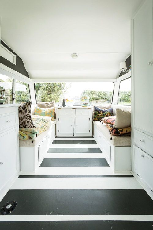 One of the family cleanses the family and caravan renovation Diy caravan interior design ideas