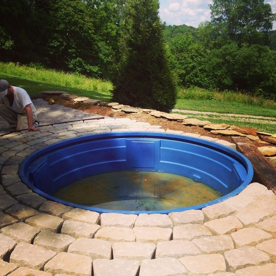 Another view of the DIY pool.