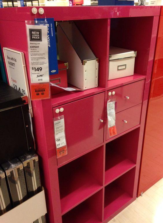 pink ikea expedit and shelving on pinterest. Black Bedroom Furniture Sets. Home Design Ideas