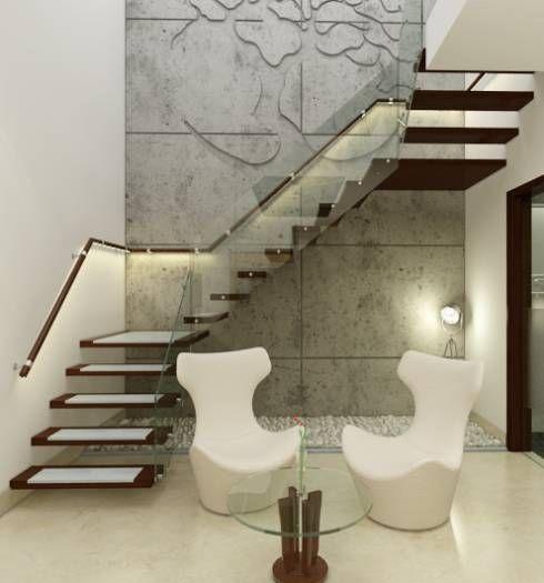 Corredores, halls e escadas translation missing: pt.style.corredores-halls-e-escadas.moderno por Space Interface