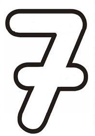 7 Rakami Matematik Okul Oncesi Boyama Sayfalari