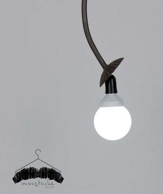 POURQUOI ? Lamp (Available on Request)  ph: Michele Messinese More at https://www.facebook.com/pages/Moustache-Style/158818544176138?fref=ts