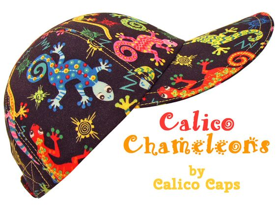 """""""Calico Chameleon"""" - Lizards Southwestern Baseball Ball Cap Hat by Calico Caps   Clothing, Shoes & Accessories, Women's Accessories, Hats on eBay, Etsy and www.CalicoCaps.com $40"""