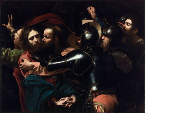 Caravaggio-The Taking of Christ, 1602. National Gallery of Ireland.