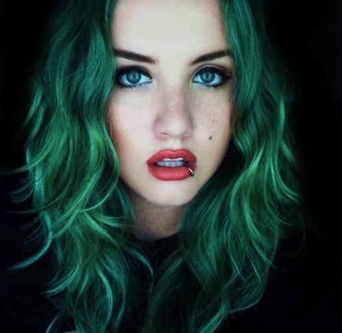 green hair http://s6.favim.com/orig/65/blue-eyes-colored-hair-girl-green-hair-Favim.com-597951.jpg