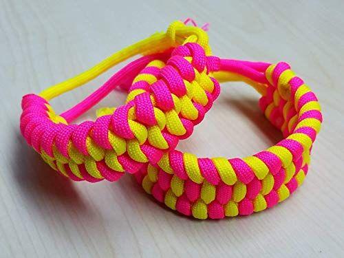 Set of 3 Adjustable Neon Paracord Bracelets