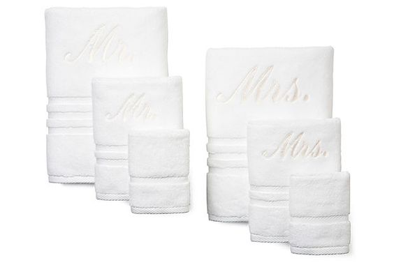 6-Pc Boca Mr./Mrs. Towel Set, White on OneKingsLane.com