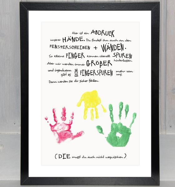 """Handabdruck+-+Geschwister:+""""Unsere+Hände+für+dich""""+von+bei.werk+★+prints+&+more+auf+DaWanda.com"""