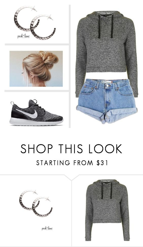 """""""My Park Lane Style"""" by parklanejewelry on Polyvore featuring Topshop, Levi's and NIKE"""