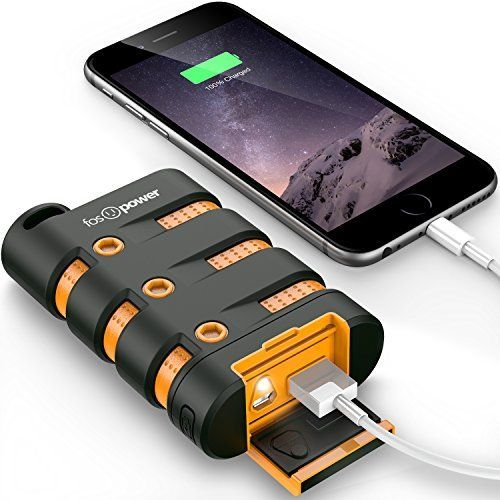 FosPower PowerActive 10200 mAh Power Bank - 2.1A USB Output [Water/Shock/Dust Proof] Rugged Heavy Duty Portable Battery Charger for iPhone/iPad, Android Smartphones, Tablets & MP3, http://www.amazon.com/dp/B00K8DUKH2/ref=cm_sw_r_pi_awdm_H3euxb1G55WB8
