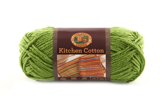 KITCHEN COTTON- SNAP PEA - Made in the USA, this classic worsted-weight cotton is perfect for kitchen items and bath accessories. Its bright, retro-inspired palette is ideal for stripes, ripples, and colorwork projects. The smaller size of the skeins means that you can mix and match your own color palette affordably.