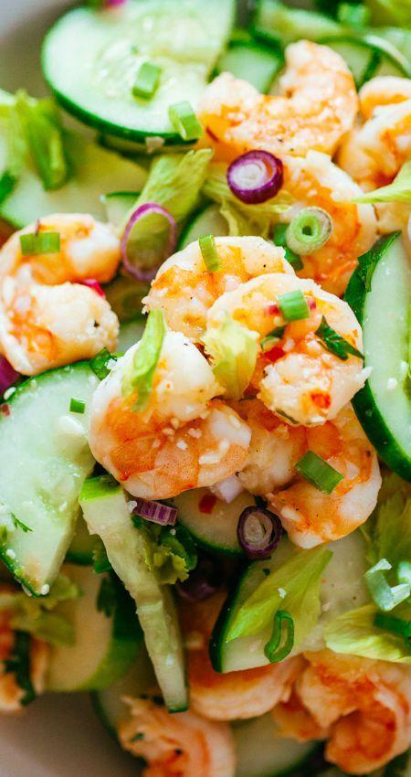 shrimp cucumbers cucumber salads and more cucumber salad shrimp ...