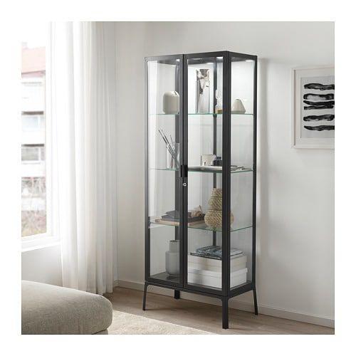 Milsbo Vetrina Bianco 73x175 Cm Ikea It Glass Cabinet Doors Glass Cabinet Bathroom Storage Cabinet