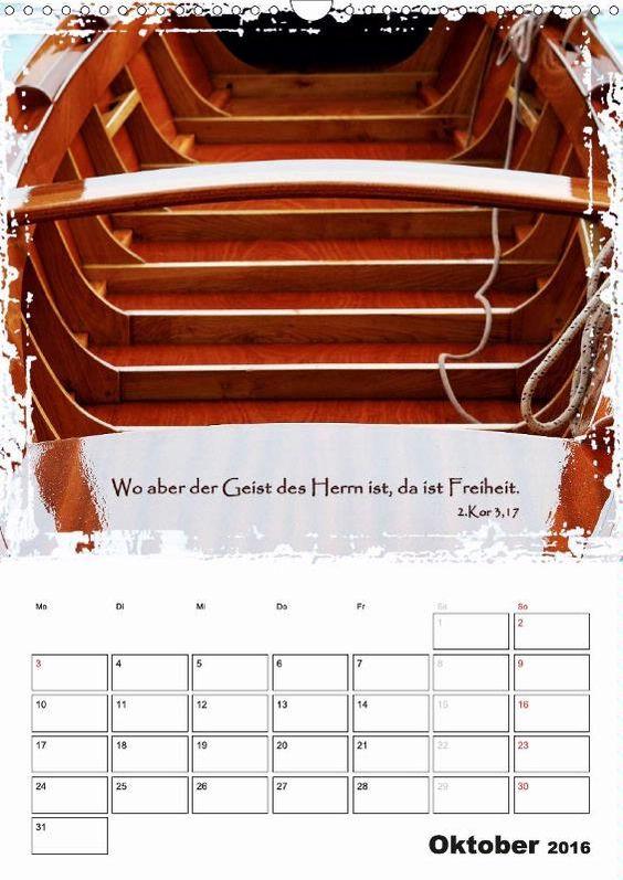 Kalender - Christliche Monatssprüche - Oktober