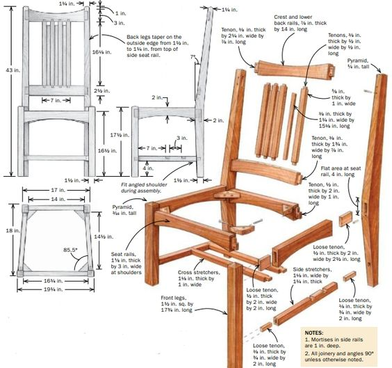 Chair Assembly Drawing
