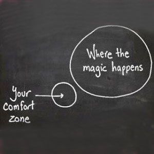 Get out of that comfort zone! We all have a THRESHOLD, we must work above the threshold to receive glorious results! This means that we need to be a bit uncomfortable within reason. If your workout is comfy, you may not be challenging yourself enough.: