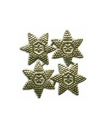 Goud Bumpy Victoriaanse Double Stars ~ 15