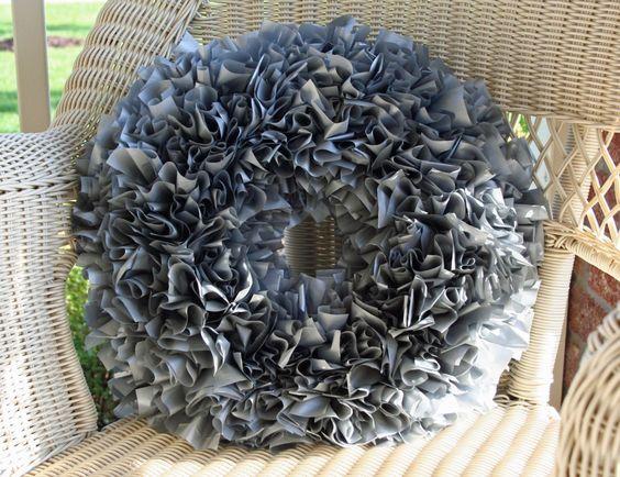 Plastic Tablecloth Wreath
