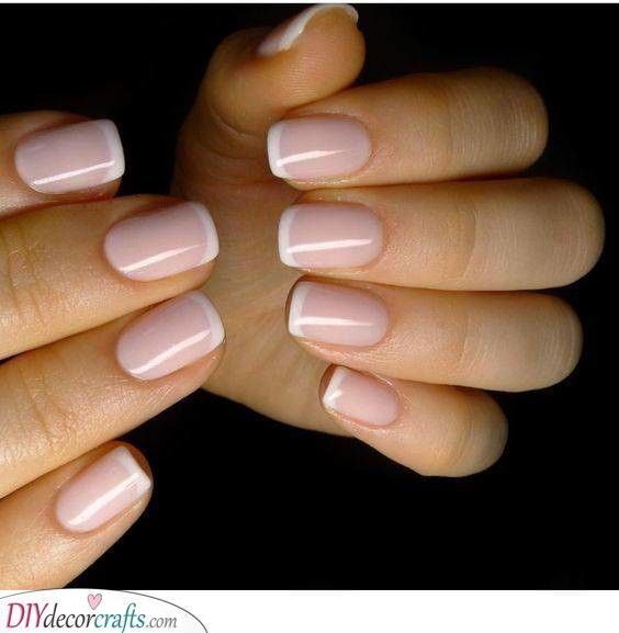 Pale Pink Gorgeous French Manicure Ideas White Tip Nails French Tip Nails Classy Nails