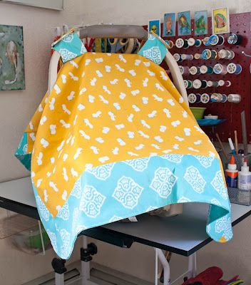 Sew your own carseat cover.