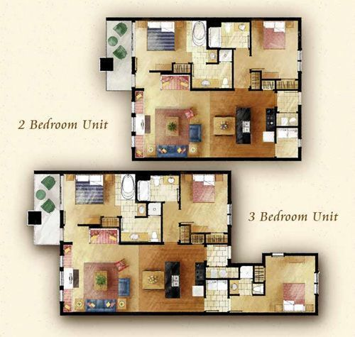 Cherokee Lodge Floor Plans 2 3 Bedroom Condos Lodges Design Pigeon Forge Condos Condos For Rent