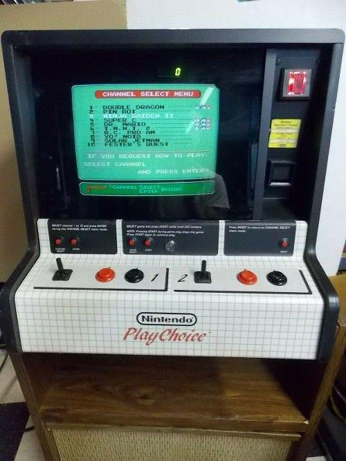 1495 0 Nintendo Playchoice 10 Counter Top Arcade Double