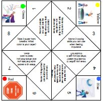 ADHD Fortune Teller-USe this fortune teller to help client talk about ADHD and practice impulse control.: