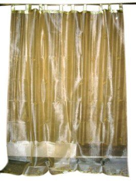 Amazon.com - Mogulinterior 2 Sheer Organza Curtains Cream Gold ...